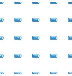 Broken battery icon pattern seamless white vector