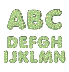 Cactus alphabet from A to N vector image