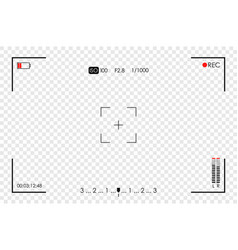 camera frame viewfinder screen video recorder vector image