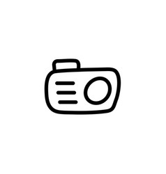 camera line icon in flat style for apps ui vector image