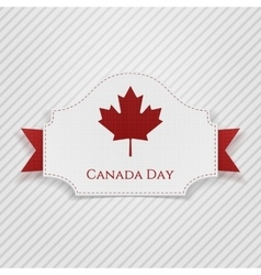 Canada Day Holiday Tag with Ribbon vector image