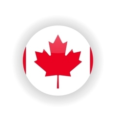 Canada icon circle vector image