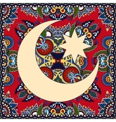 Carpet design for holy month of muslim community vector