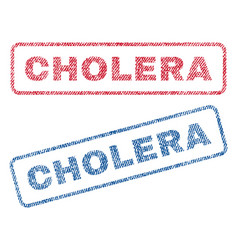 Cholera textile stamps vector