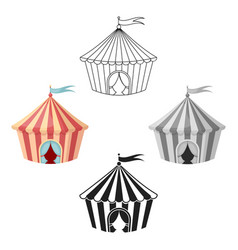 circus tent icon in cartoonblack style isolated vector image