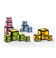 Colored cubes vector image