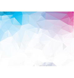 colorful light polygonal mosaic background vector image