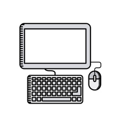 computer desktop technology icon vector image