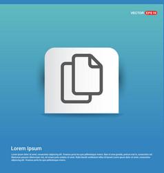 copy icon - blue sticker button vector image