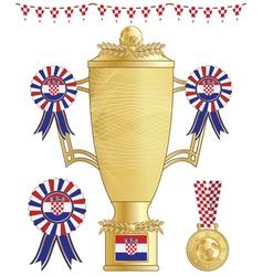 croatia football trophy vector image vector image