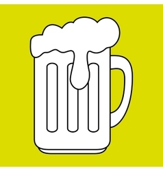 Cup glass beer icon vector