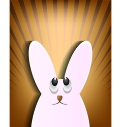 Design with a silhouette of the Easter Bunny vector