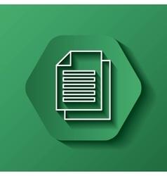 document icon Media design over hexagon vector image