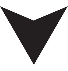 down arrow icon isolated vector image