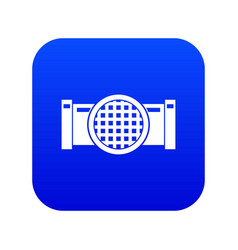 Drain pipe icon digital blue vector
