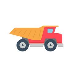 Dump truck icon vector