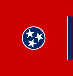 Flag tennessee state united states america vector