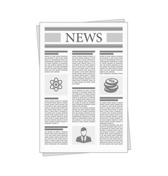 folded newspaper news with articles and graph vector image