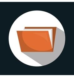 Folder files archive icon vector