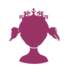 Front silhouette of a princess vector