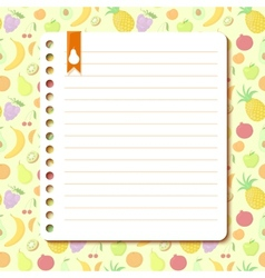 Fruit background with space for text vector