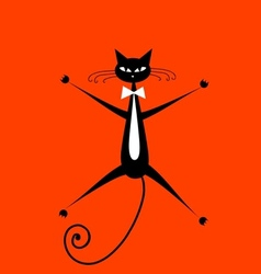 Funny cat for your design vector image