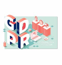 Gdpr general data protection regulation vector