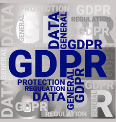 General data protection regulation gdpr concept vector