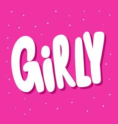 Girly sticker for social media content vector
