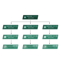 green business structure concept vector image