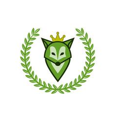 Green fox as a queen vector
