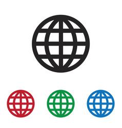 grid world icon vector image