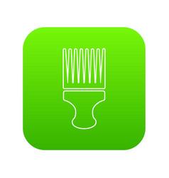 haircut fix comb icon green vector image