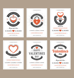 happy valentines day party posters design vector image
