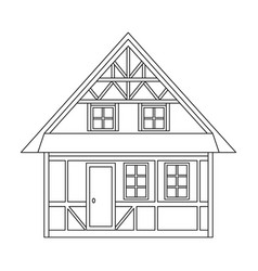 house single icon in outline stylehouse vector image
