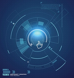 Interface technology the future of user experience vector image