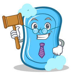 Judge blue soap character cartoon vector