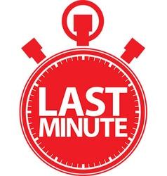 Last minute stopwatch icon vector image