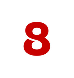 logo number 8 red vector image