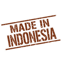made in indonesia stamp vector image