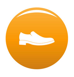 men shoe icon orange vector image