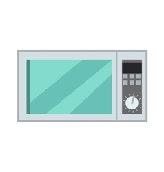 Microwave oven isolated kitchen appliance vector