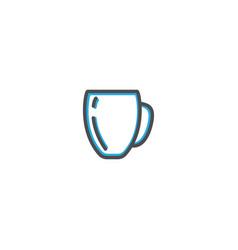 mug icon design gastronomy icon vector image