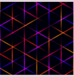 neon triangle blue pink orange and red laser vector image