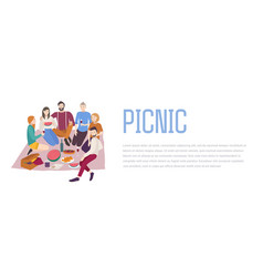 Picnic friends company vector