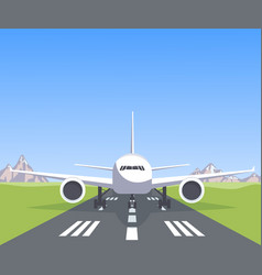 Plane on the runway vector