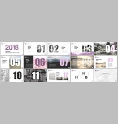 Presentation templates calendar for 2018 year vector