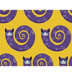 Purple Cat seamless pattern Fabulous animals vector image vector image