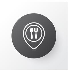 restaurant location icon symbol premium quality vector image