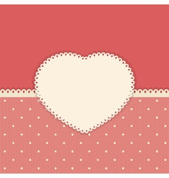 Retro background with polka dot lace vector